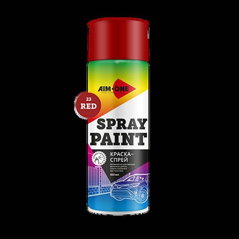 AIM-ONE Краска-спрей SP-R23 (красная) 450мл