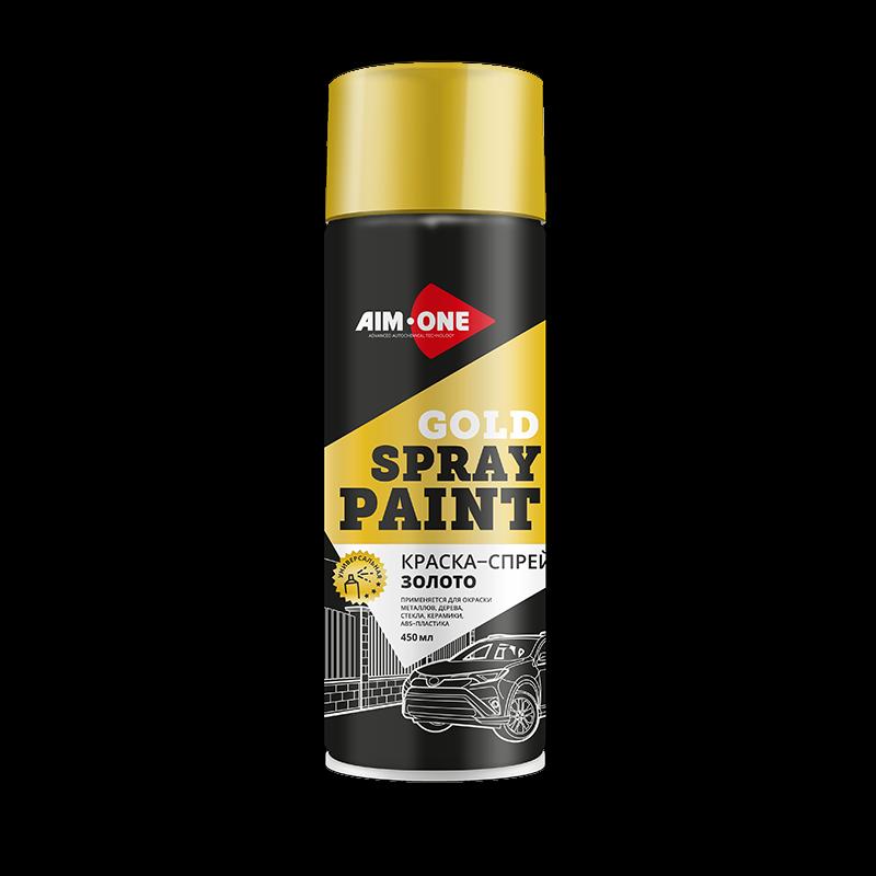 AIM-ONE Краска-спрей ЗОЛОТО 450мл