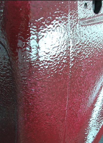 визуально заметная неравномерность лакокрасочного покрытия